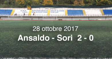 Ansaldo - Sori 2 - 0